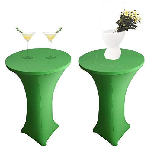 (BROSCO 1pc Cocktail Poseur Spandex Table Cover 60cm Party Elastic Cloth Fruit Green)