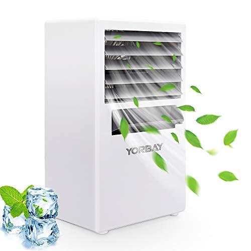 🥇 Yorbay Mini Aire Acondicionado portatil 3 En 1 Climatizador Ventilador y humidificador