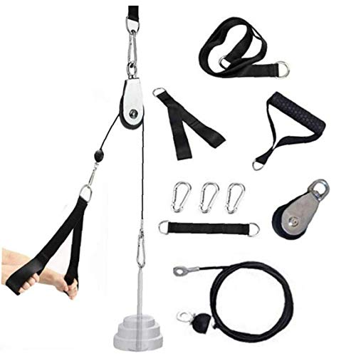 Yoyakie Diy Katrol Kabel Machine Attachment Systeem Thuis Gym Apparatuur Workout Accessoires Lat Pull Downs Biceps Curl…