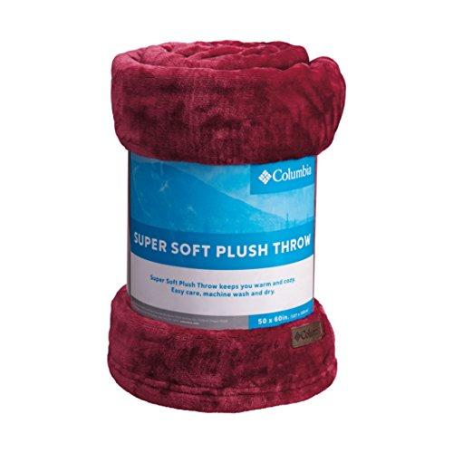 Columbia Super Soft Plush Throw Cozy Flannel Fleece Blanket, 50