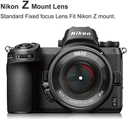 Meike MK-50mm F1.2 Large/Aperture Full Frame Manual Focus Fixed Lens for Nikon Z-Mount Z5 Z6 Z7 Z50