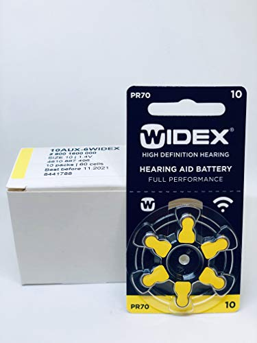Widex hearing aid battery Size 10 (5 Packets= 30 Batteries)