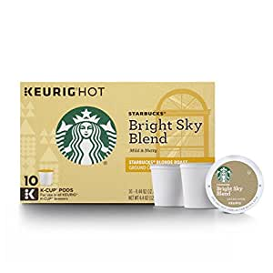 Starbucks Bright Sky Blend Blonde Light Roast Single Cup Coffee for Keurig Brewers, 6 Boxes of 10 (60 Total K-Cup pods) (Pack of 6)