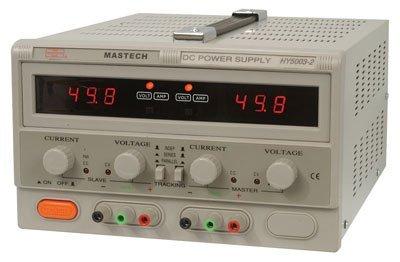 "Mastech HY5003-2 Benchtop Power Supply, Dual Output, Digital, 2 x 50 Volt, 2 x 3A, 300W, 6.5"" H x 10.4"" W x 14.4"" L"