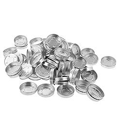 Jili Online 100 Pieces Aluminium Tealight Cases Ti