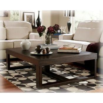 Ashley Furniture Signature Design   Watson Coffee Table   Cocktail Height    Rectangular   Dark Brown