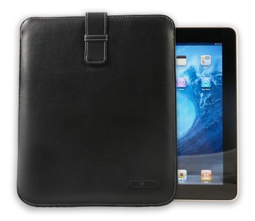 Cover-Up Apple iPad /iPad 2 / iPad 3 / iPad 4 with Retina Display Leather Cover Case (Pouch / Sleeve Style) - Black by Cover-Up