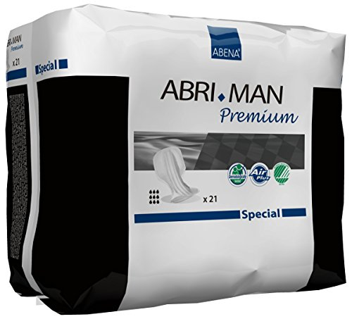 Abena Abri-Man Male Pouch Incontinence Pads Special, 21 - Label High Capacity Extra