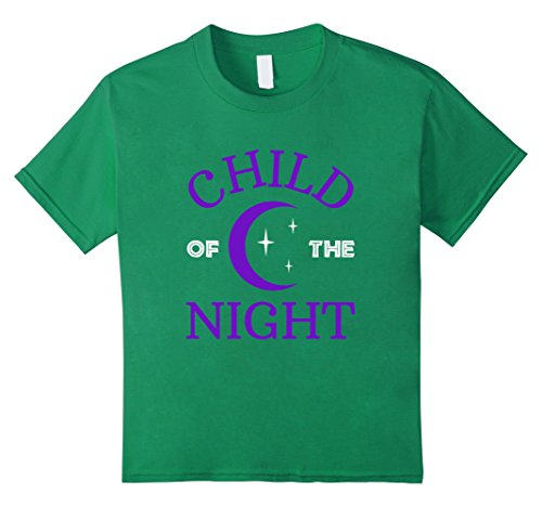 [Kids Funny Chold of the Night T-shirt Halloween Costume Scary 10 Kelly Green] (Current Halloween Costume Ideas)