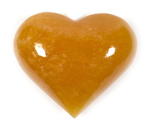 Fiery Orange Crystal Stone Heart, 4