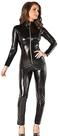 Coquette Womenu0027s Darque Wet Look Catsuit  sc 1 st  Creative Costume Ideas & Sexy Vampire Death Dealer Selene Underworld Costumes For Women