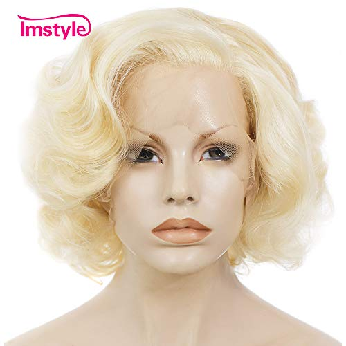 Imstyle Short Lace Front Wigs Blonde Bob Synthetic
