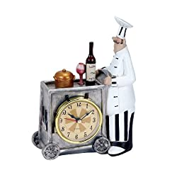 Plutus Brands Chef Wall Clock with Attractive Colors