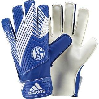 adidas Herren Torwarthandschuhe FC Schalke 04 Predator Young Pro, White/Cobalt, 7, F87204
