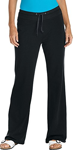 Coolibar UPF 50+ Women's Beach Pants - Sun Protective (XX-Large - Black)