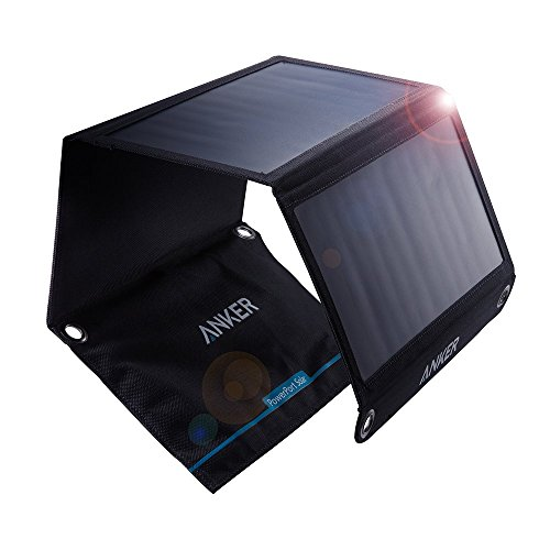 Anker 21W Dual USB Solar Charger, PowerPort Solar for iPhone 7 / 6s / Plus, iPad Pro/Air 2 / Mini, Galaxy S7 / S6 / Edge/Plus, Note 5/4, LG, Nexus, HTC and More
