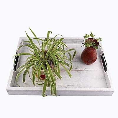 Amazon Com Large Ottoman Tray With Handles Set Of 2 Coffee