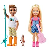 Barbie Camping Fun - Chelsea w/Ukulele and Boy w/Fishing Pole Bundle
