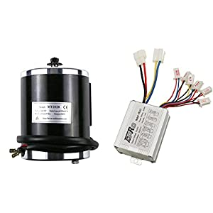 JCMOTO 24v 500w Brushed Speed Motor and Controller Set for Electric Scooter Go Kart Bicycle e Bike Tricycle Moped