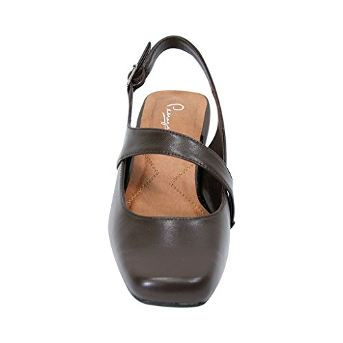 Wide FIC Available Women Slingback Mary Brown Dress Measurement Size Jane Guide Width Peerage Trixie amp; Leather qtHxwnAA