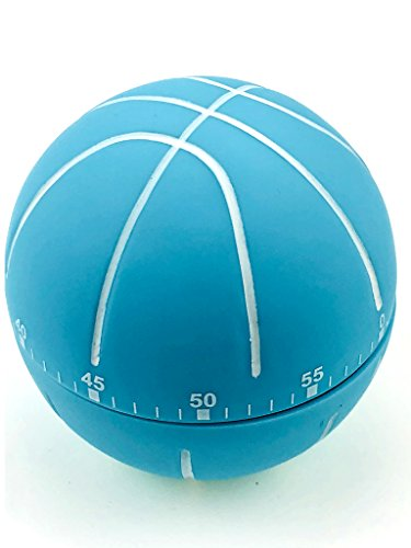 Pomodoro Kitchen Timer For Productivity And Time Management, Mechanical Rotating 60 minutes, Assorted Styles (Basketball/Blue)