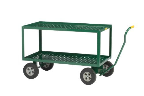 Little Giant 2LDWP2448-10-G Steel Perforated Deck Wagon Truck with 10