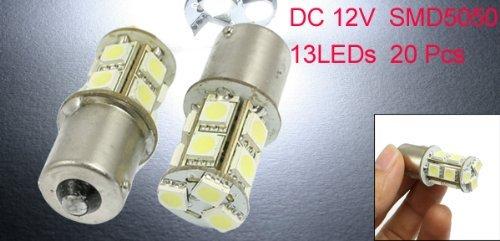 Amazon.com: eDealMax Coche 1156 BA15S P21W 5050 SMD 13 LED cola Girar Freno de la lámpara de luz DE 20 PC: Automotive
