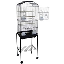 Canary Parakeet Cockatiel Lovebird finch Bird Cages With Stand On Wheels - 18\