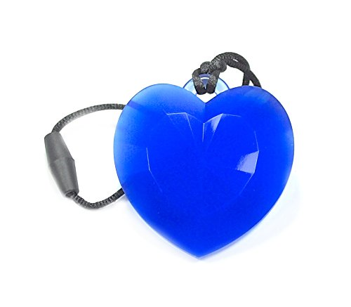 """Silli Me Jewels: """"Have a Heart"""" - Sensory Teething Necklace for Mom to Wear (Blue)"""