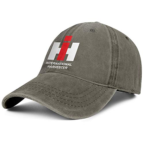 (Mens Womens International-Harvester-Information-Logo- Adjustable Vintage Summer Travel Hats Baseball Washed Dad Hat Cap)