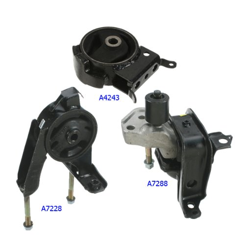 2004-2006 Scion XA/ XB 1.5L Engine Motor & Trans. Mount Set 3PCS for Auto Transmission 04 05 06 A7288 A7228 A4243