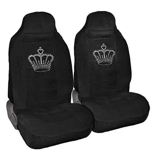 - CarsCover King Crown Crystal Diamond Bling Rhinestone Black Car SUV Truck High Back Seat Covers