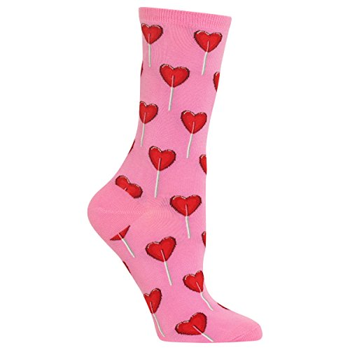 Hot Sox Women's Heart Lollipop Socks (Sox Heart)