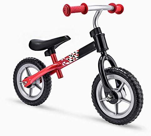 ランニングウォーキング自転車スポーツ10インチ2歳以上のスライディングカーに最適ペダルバランスなしインフレータブルライトフォームホイール(赤)