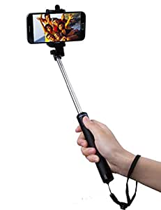 selfie stick bluetooth selfie stick extendable and compact monopod with 50 hour. Black Bedroom Furniture Sets. Home Design Ideas