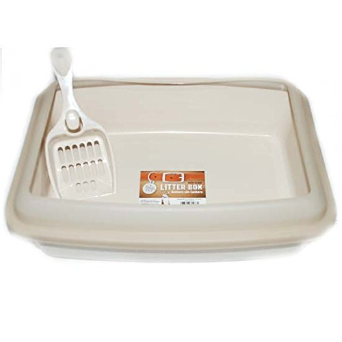 Bonita P Litter Box w Scoop12x16in Almd, Case of 18 by DollarItemDirect