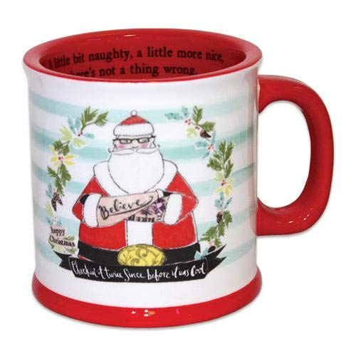 Curly Girl Design | Santa's List | Holiday Ceramic Mug
