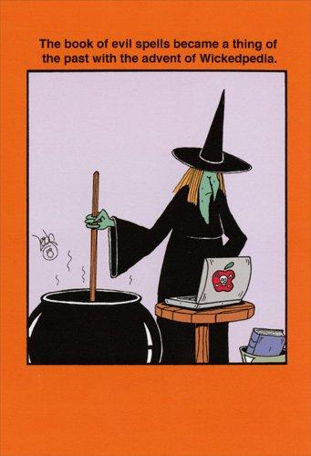 Wickedpedia - Nobleworks Funny Halloween Card -