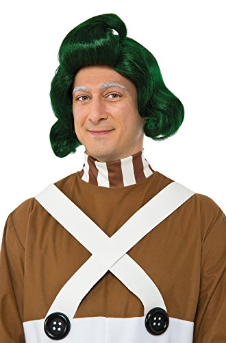 Rubie's Men's Willy Wonka and The Chocolate Factory Oompa Loompa Wig, As Shown, One (Oompa Loompa Willy Wonka Costume)