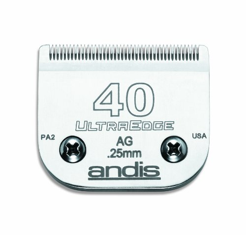 Price comparison product image Andis Carbon-Infused Steel UltraEdge Super Blocking Dog Clipper Blade, Size-40, 1/100-Inch Cut Length (64076)