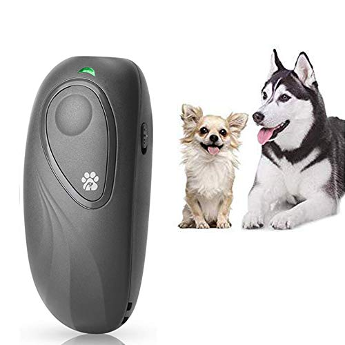 BIG DEAL Anti Barking Devices, Handheld Portable Ultrasonic Dog Bark Deterrent, 16.4 Ft Effective Control Range Safety Stop Barking Tool Dog Training Aid with Wrist Strap