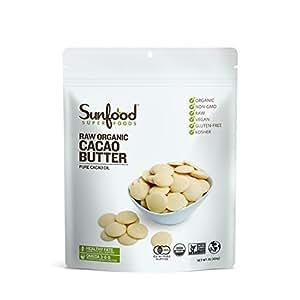 Sunfood Organic Golden Cacao Butter, 1 Pound