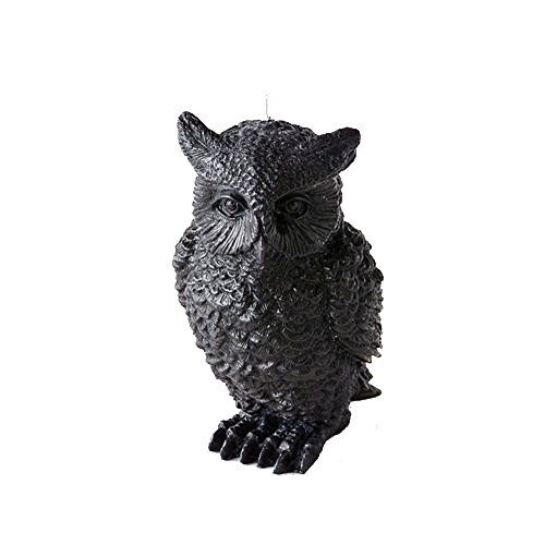 One Hundred 80 Degrees Sculpted Black Owl Figure (Sculpted Halloween Candles)