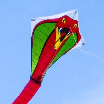Drachen Kobra Einleiner, Thai-Schlange, gut fliegend, rot Colours in Motion