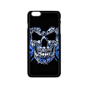 Blue small skull compose big skull Phone Case for iPhone 6
