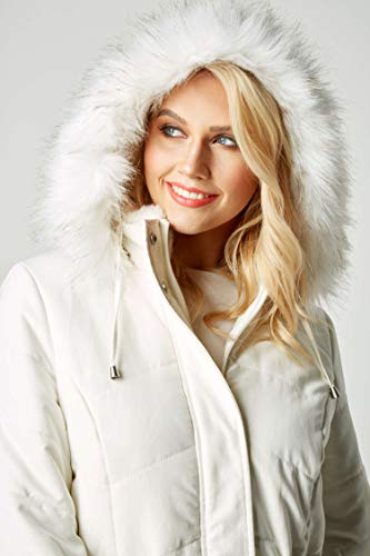 Coat Faux Taille Originals 46 Microfibre Fur Roman Hood Ivoire wqXS0Eqx