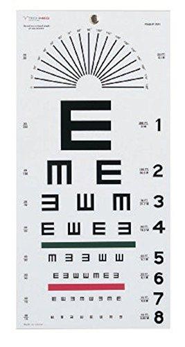 Pivit Illiterate/Tumbling E Hanging Eye Chart | 20' | 22