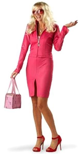Womens LG (10-12)- Ht Pink- Licensed Legally Blonde Elle Woods Costume