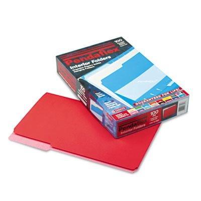 Pendaflex - Interior File Folders 1/3 Cut Top Tab Legal Red 100/Box ''Product Category: File Folders Portable & Storage Box Files/Folders''