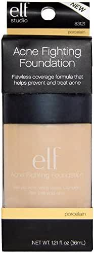 e.l.f. Acne Fighting Foundation, Porcelain, 1 Ounce